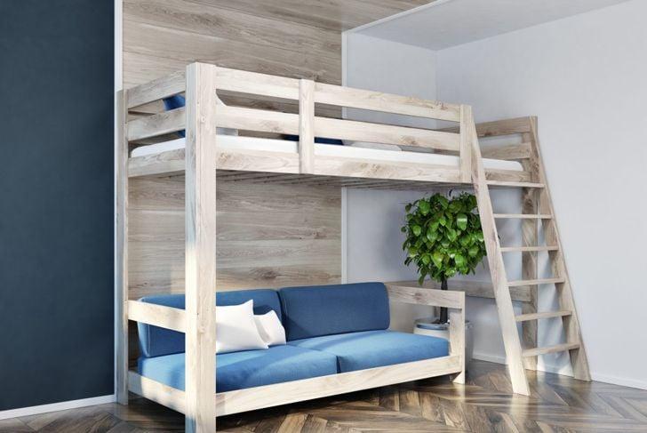 loft bed sofa space
