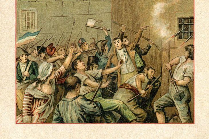 people rioting storming Bastille