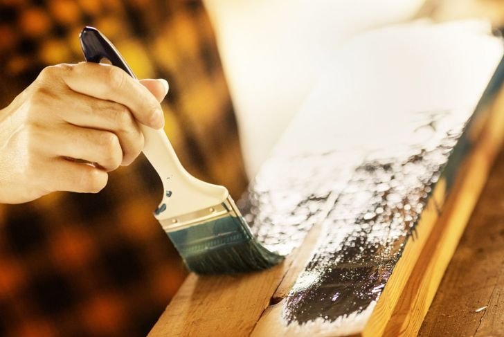 sand cut clean paint staining