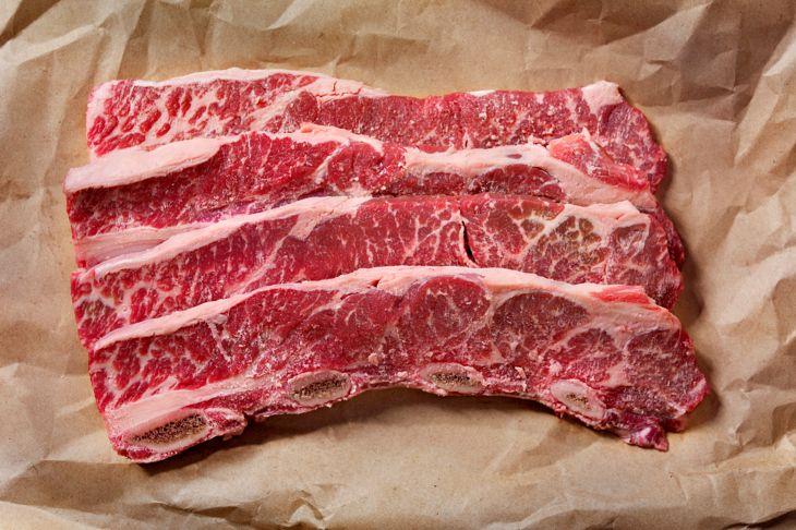 Thin Cut, Raw Beef Short Ribs