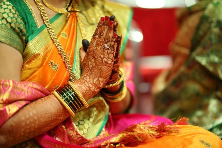 Traditional Indian way of saying thank you Namaste