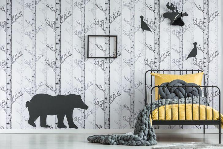 artistic reusable wall decal