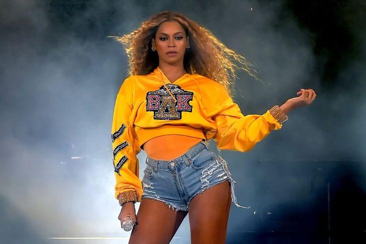 Beyoncé onstage at Coachella