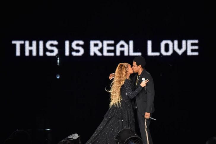 Beyoncé and Jay-Z on stage