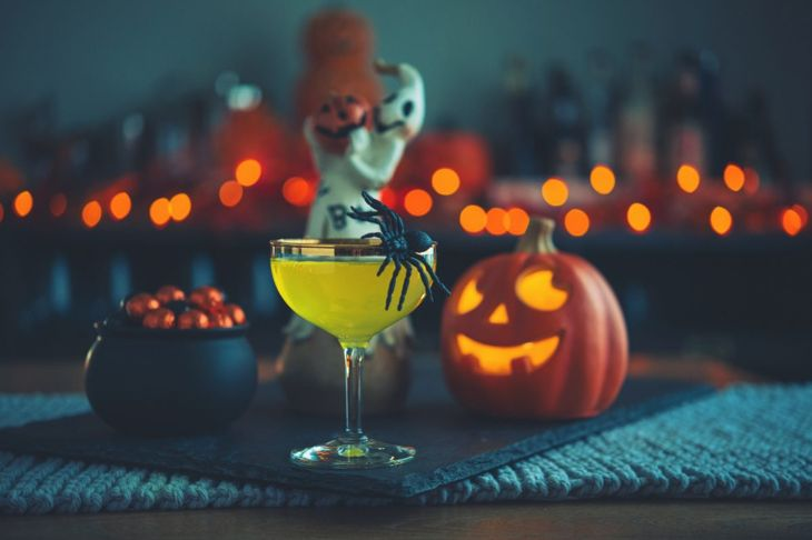 Melted monster Halloween mocktail drink