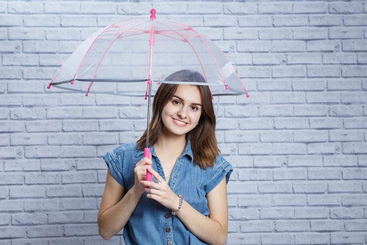 Raining Men umbrella DIY Halloween costume