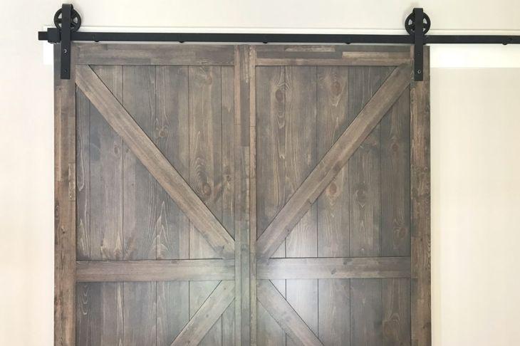 Barn doors as sliding doors