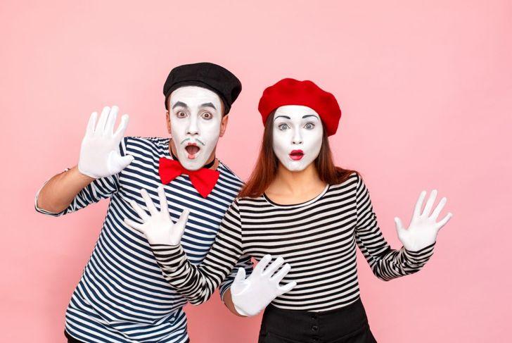 Mime Halloween makeup