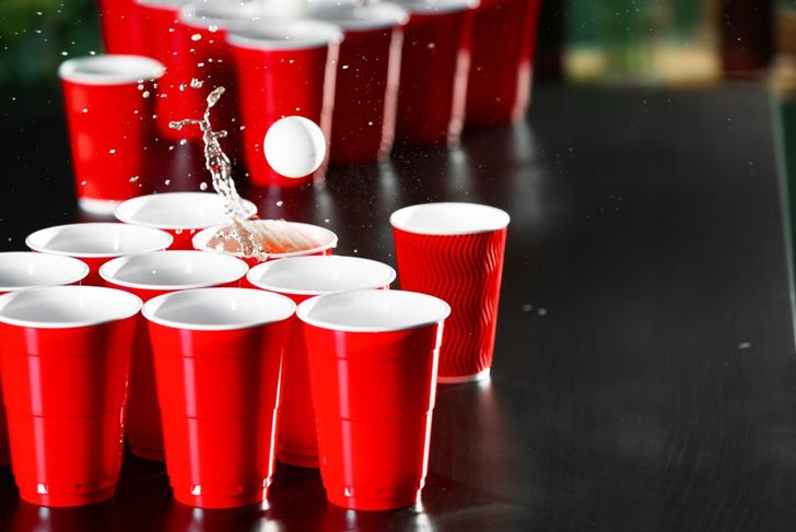 plastic cups table tennis ball