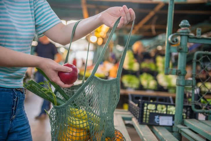 Shopping for fruits and vegetables