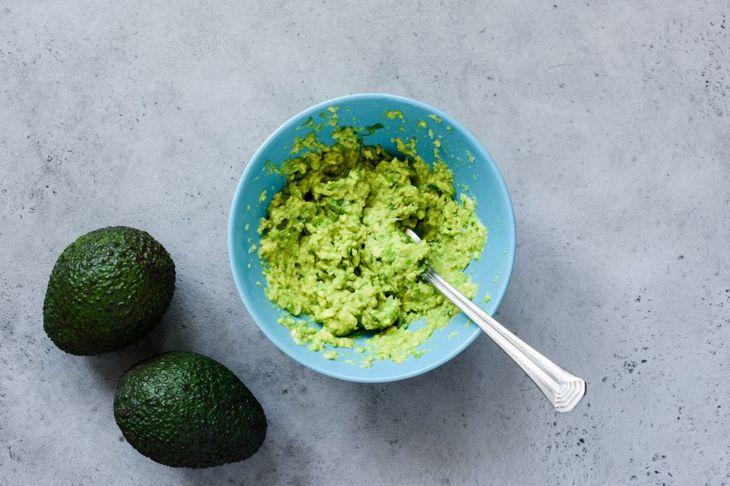 Mashed avocados