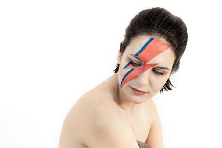 David Bowie Ziggy Startdust Halloween makeup