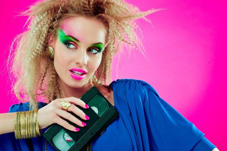 1980s Halloween makeup