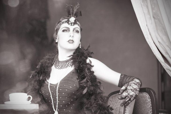 Flapper Halloween makeup