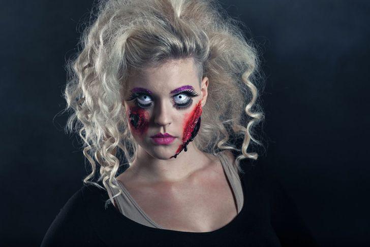 Damaged doll Halloween makeup
