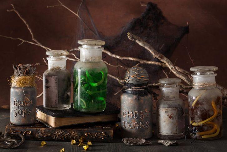 specimen jars Halloween decoration
