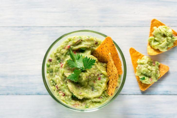 Plated guacamole