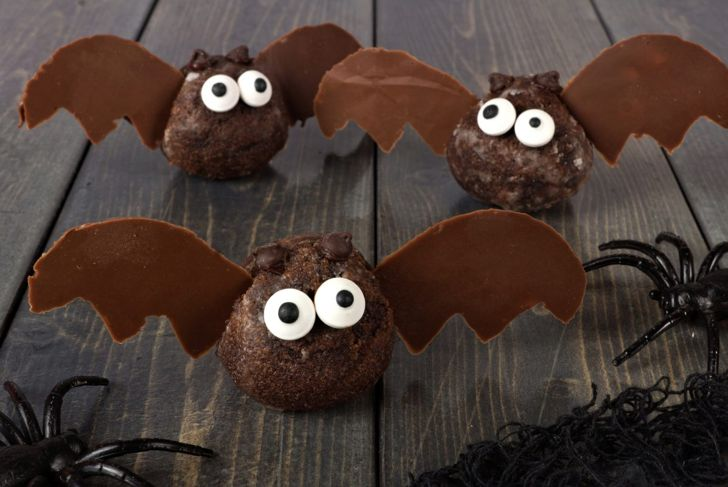 chocolate donut hole bats