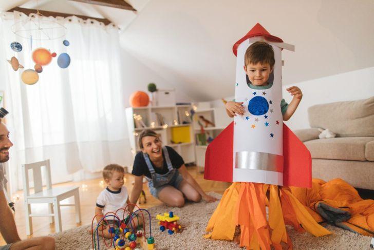 Rocket ship DIY Halloween costume