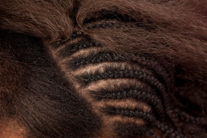 Close up african hair extension.Similar images preview: