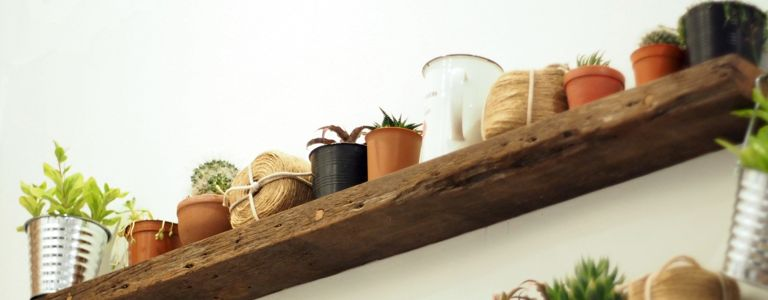 Add Country Charm To Your Home With Rustic Shelves