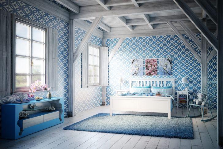 Pretty blue bedroom