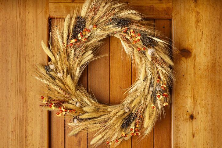 thanksgiving door decor wreath