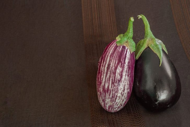 two different types of eggplant