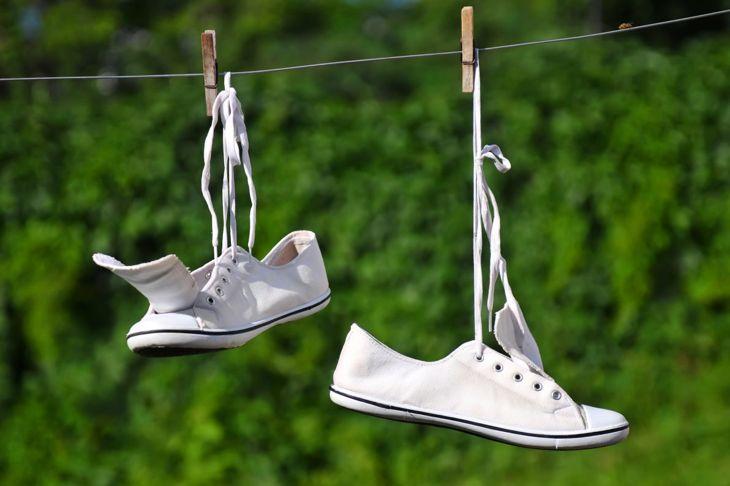 White Shoes Baking Soda Sun