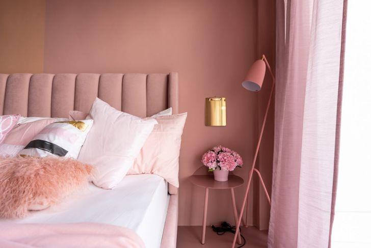 Rosy pink bedroom