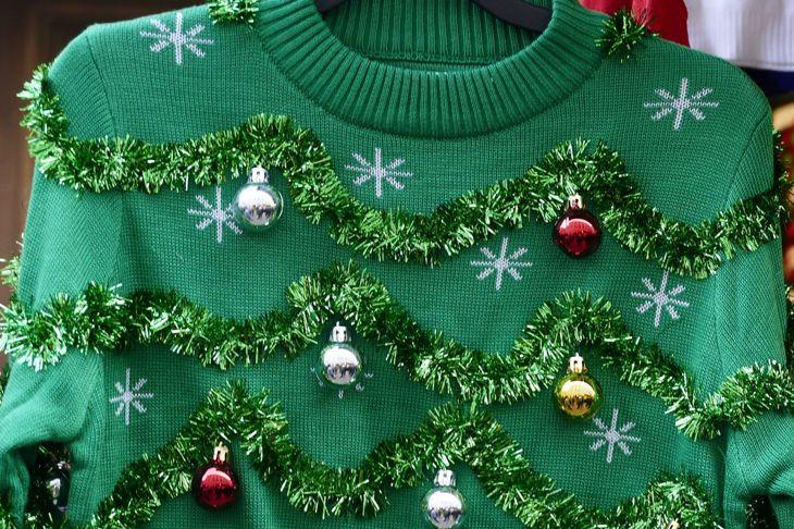 tinsel tree sweater