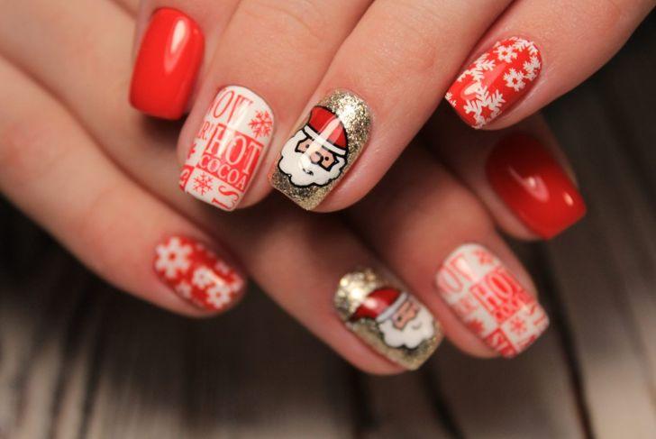 Santa Father Christmas nail Polish