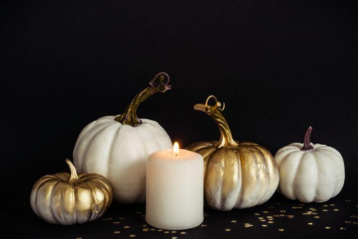 Silver pumpkins.