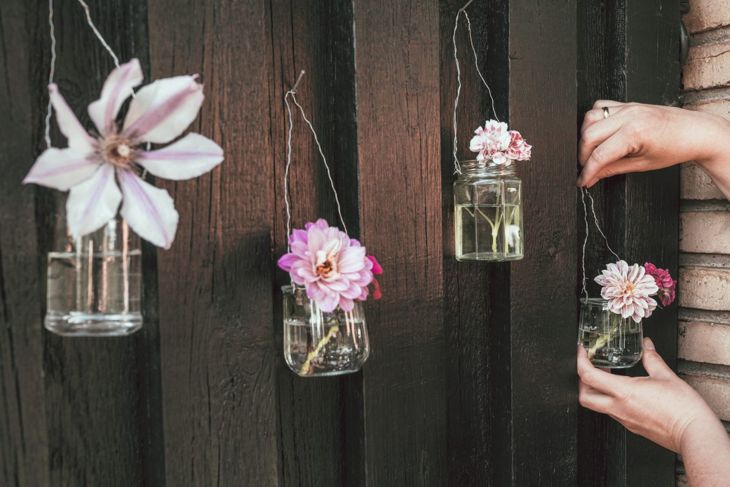 Mason jars are shabby chic
