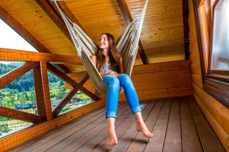 hammock chair woman