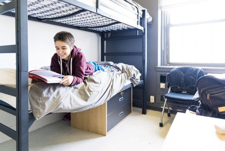 college student, dorm, decor, furniture, bed