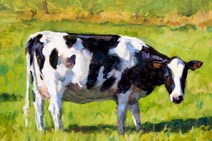 farm animal art cow