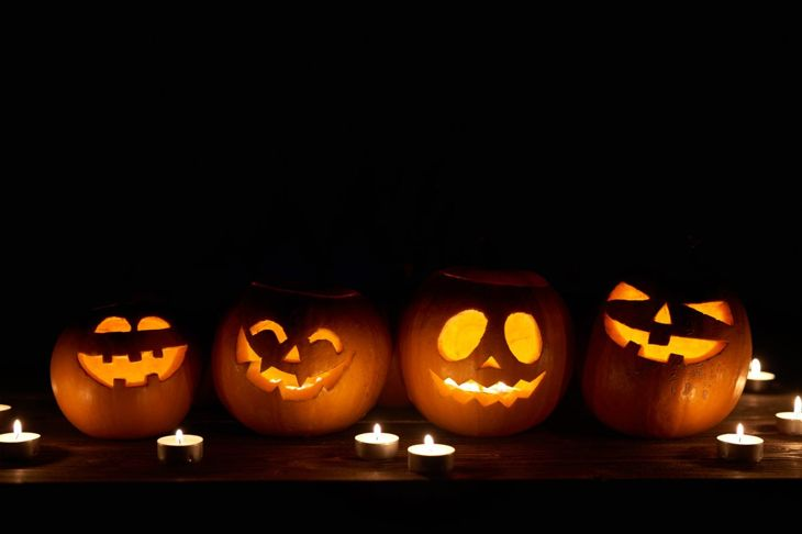 classic pumpkin carving smiles