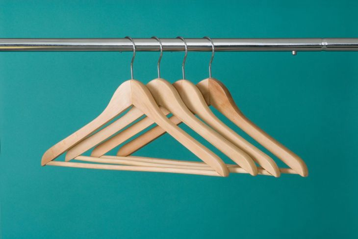 Wooden hangers can be repurposed