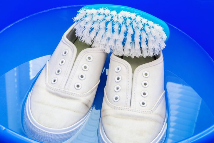 Bleach Shoes White Sun Dry