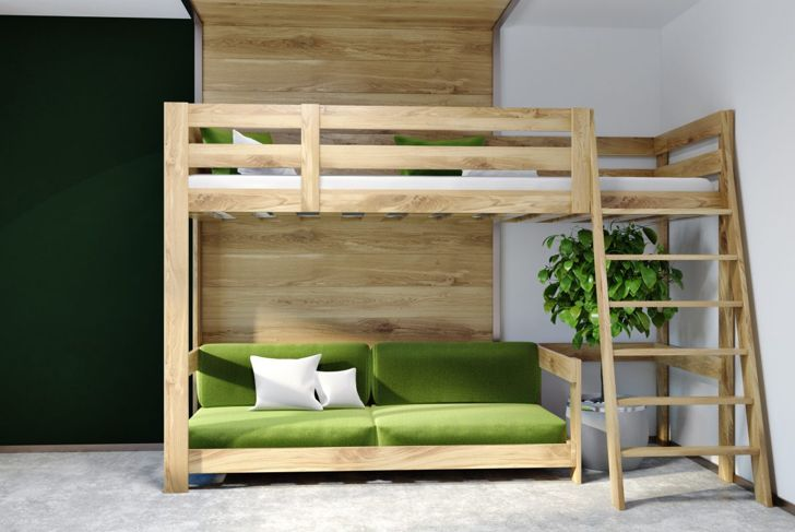 loft bed couch