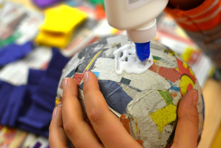 Balloons make great molds for most basic paper mache projects.