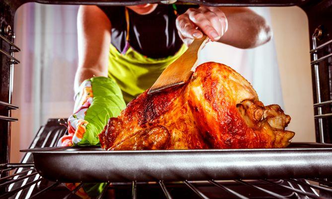 8. Roast the turkey.