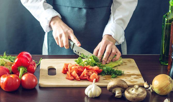2. Add veggies and turkey.