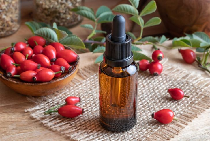 Rose hip oil from the rose plant.
