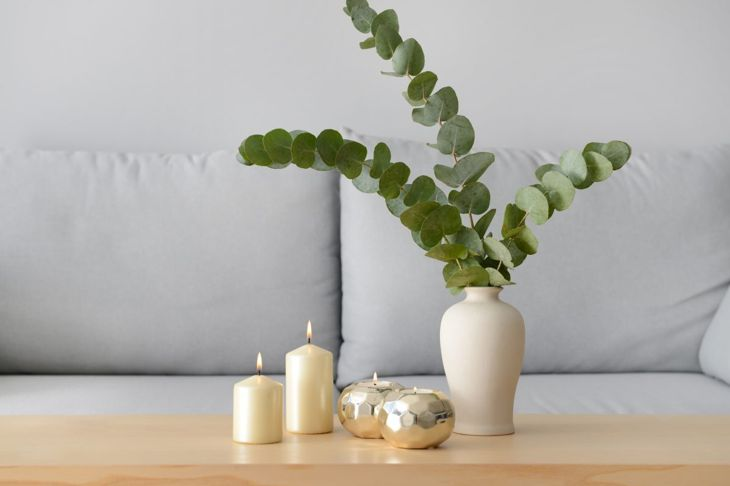 Eucalyptus sprigs add a clean look and fresh aroma to your space.