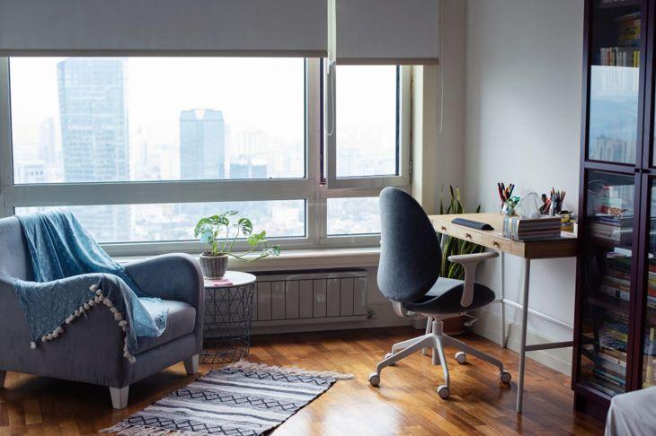 home office, no desk