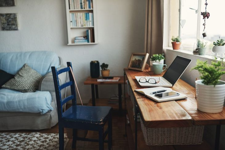 home office, living room