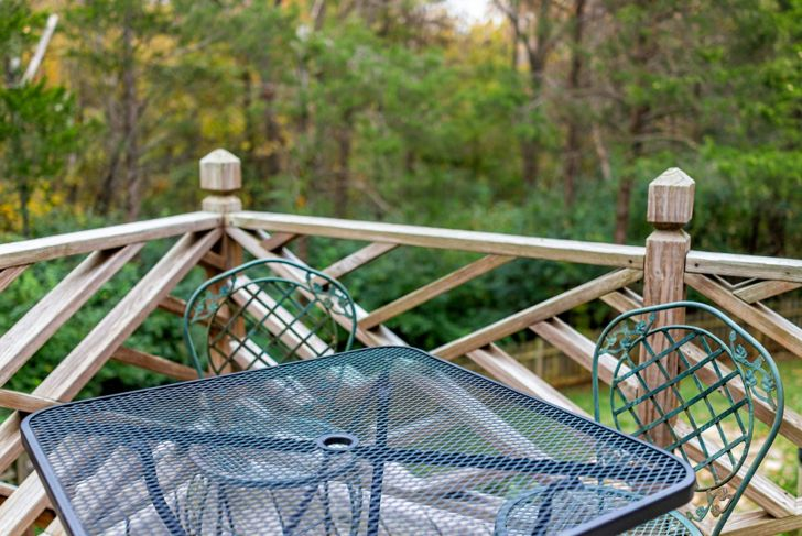 A designer railing looks impressive