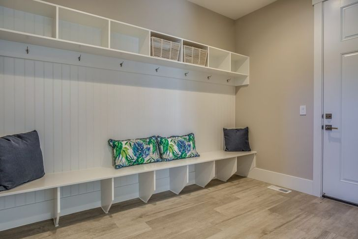 Mudroom Bench Before Adding Shelves